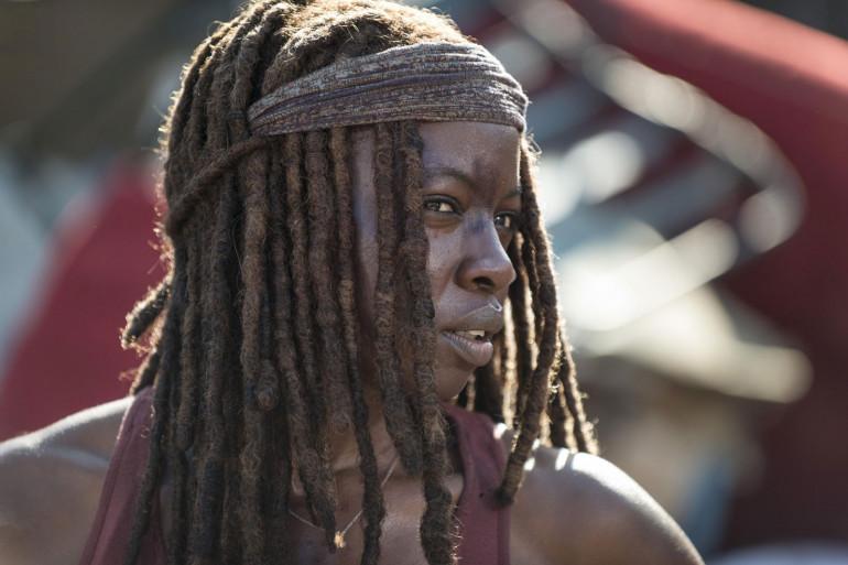 """Michonne dans la série """"The Walking Dead"""""""