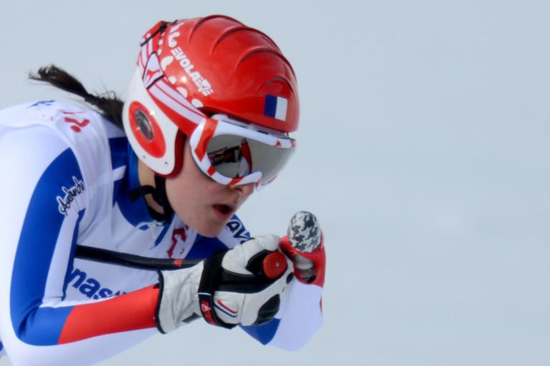 L'athlète française Marie Bochet au Jeux paralympiques de Sotchi le 8 mars 2014