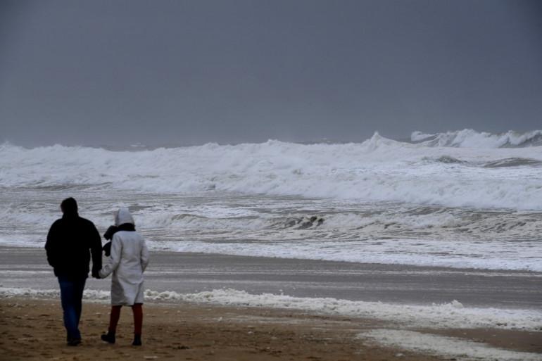 Plage de Lacanau, Gironde.
