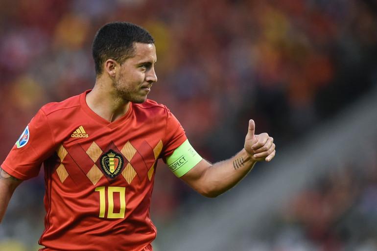 Eden Hazard avec la Belgique à Bruxelles le 11 juin 2019