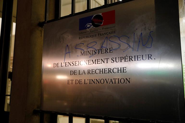 La grille du ministère de l'Enseignement supérieur a été forcée, le 12 novembre au soir