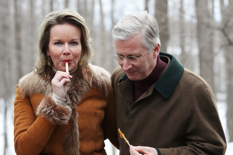 Le roi Philippe de Belgique et son épouse Mathilde en visite à Ottawa le 12 mars 2018