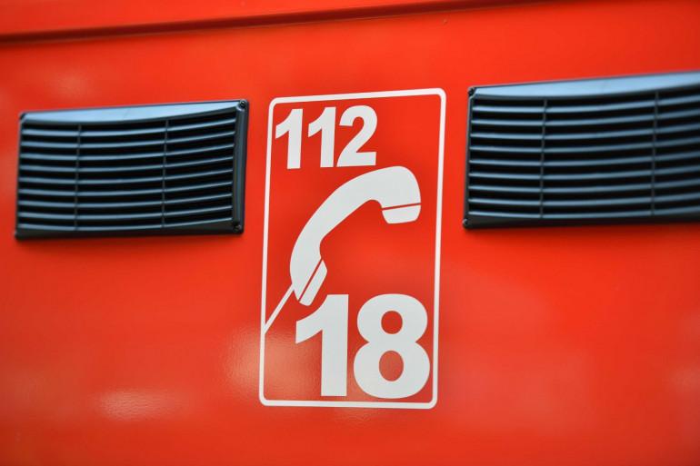 Le détail d'un camion de pompiers (illustration).