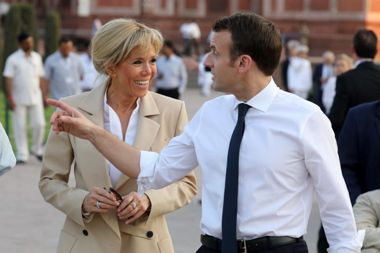 Emmanuel Macron et son épouse Brigitte en Inde, le 11 mars 2018