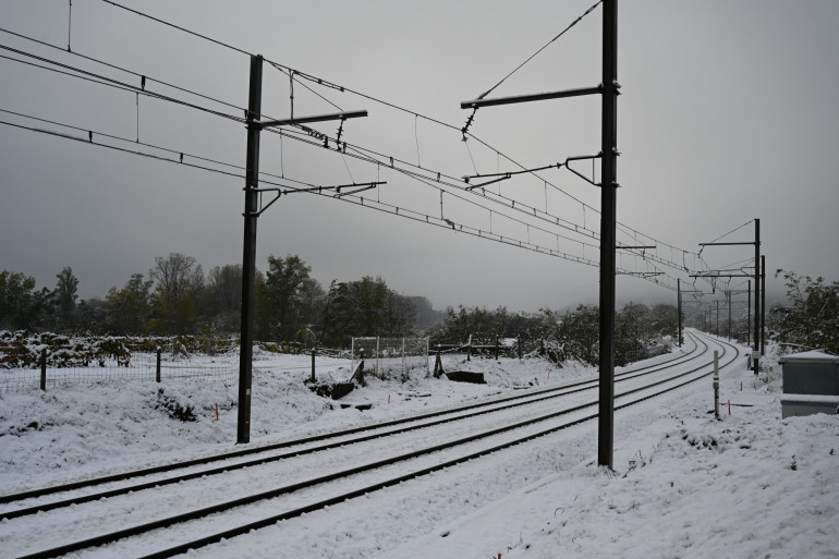 La neige à Tournon-sur-Rhône, le 15 novembre 2019