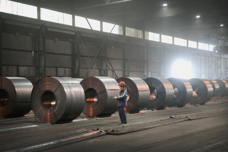 En un an, le prix de la tonne d'acier a presque doublé (image d'illustration)