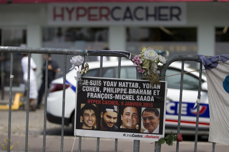 L'Hyper Cacher de Vincennes le 26 juin 2015, quelques mois après les attentats de janvier à Paris