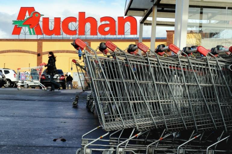 Une enseigne Auchan, qui appartient au groupe Mulliez