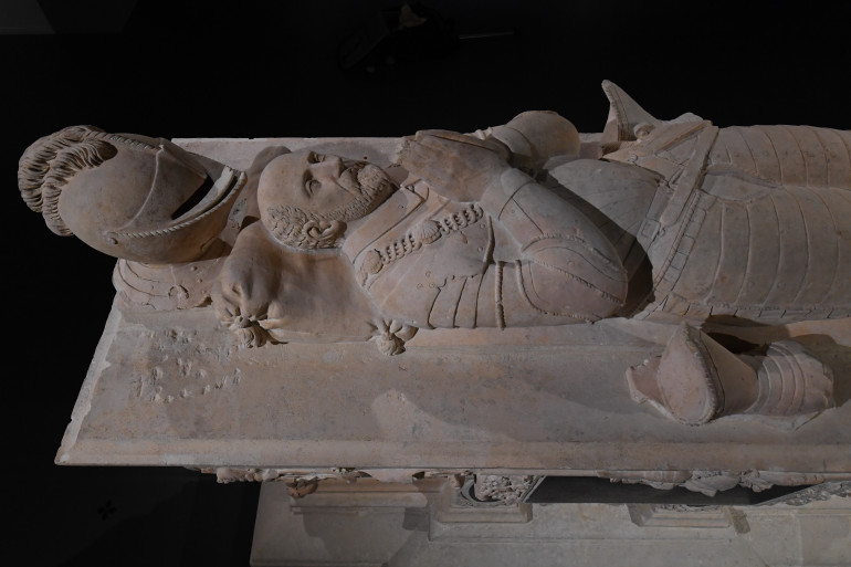 Le cénotaphe de Michel de Montaigne au musée d'Aquitaine à Bordeaux