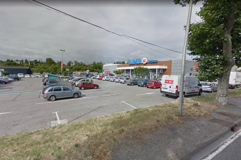 Le supermarché Super U à Trèbes