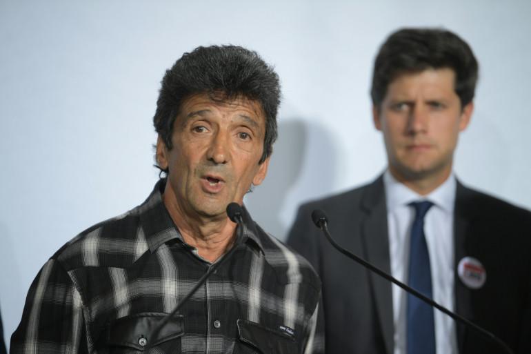 Lucien Douib, père de Julie Douib tuée par son compagnon, le 3 septembre 2019, lors de l'ouverture du Grenelle des Violences conjugales à l'Hôtel Matignon à Paris.