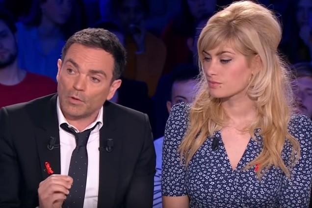 """Yann Moix et Mathilde Bisson sur le plateau d'""""On n'est pas couché"""" le samedi 24 mars"""