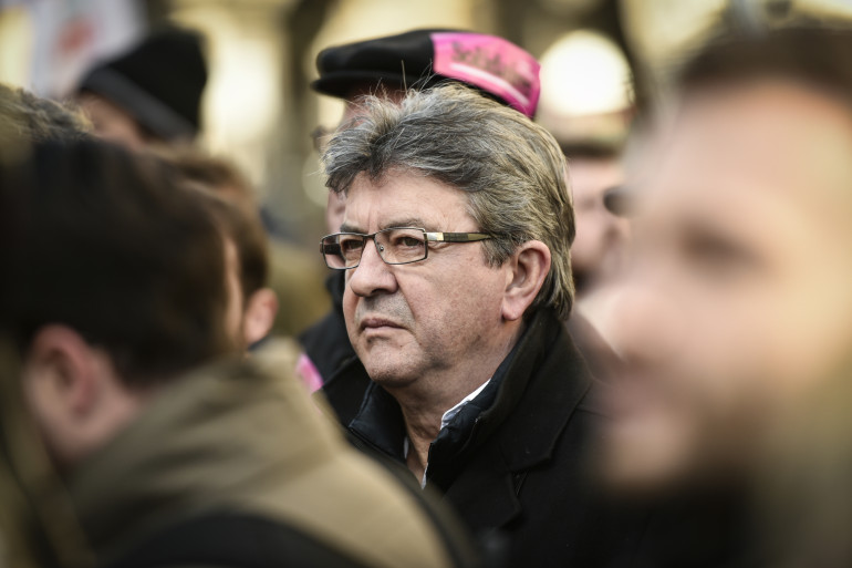 Le patron de la France Insoumise Jean-Luc Mélenchon le 12 février 2018