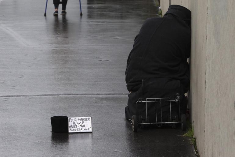 Une personne sans domicile fixe (illustration)