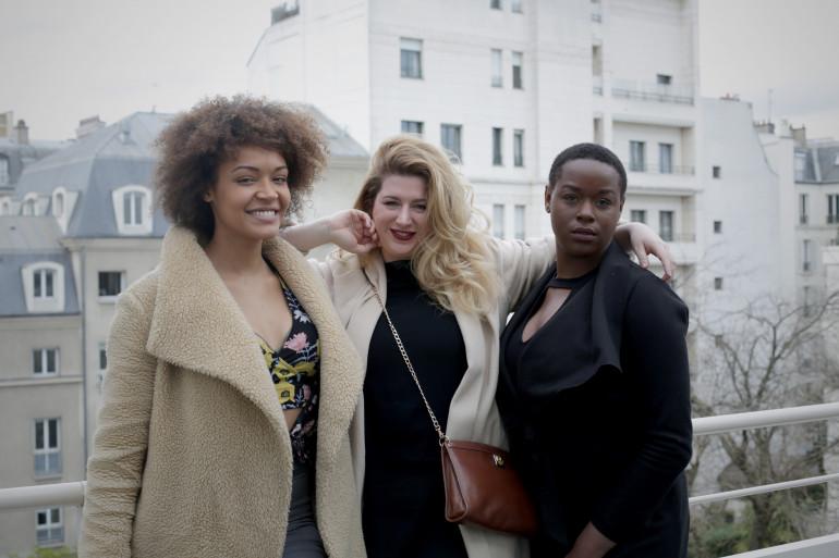 Alexandra Pivard, Georgia Stein et Ella Saint-Honoré seront au délit de mannequins plus size à Paris, le 1 avril 2018