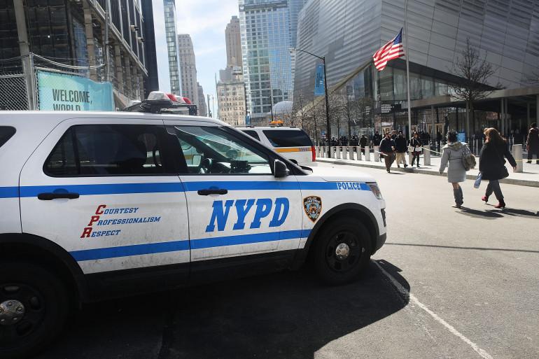 Une voiture de police à New York (Illustration).