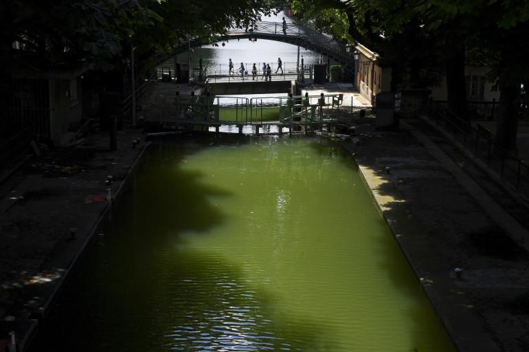 Une vue du canal Saint-Martin, à Paris (Illustration)