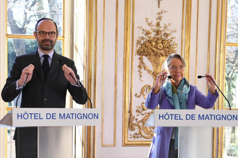 Le premier ministre, Édouard Philippe, et la ministre des Transports, Élisabeth Borne, le 26 février 2018