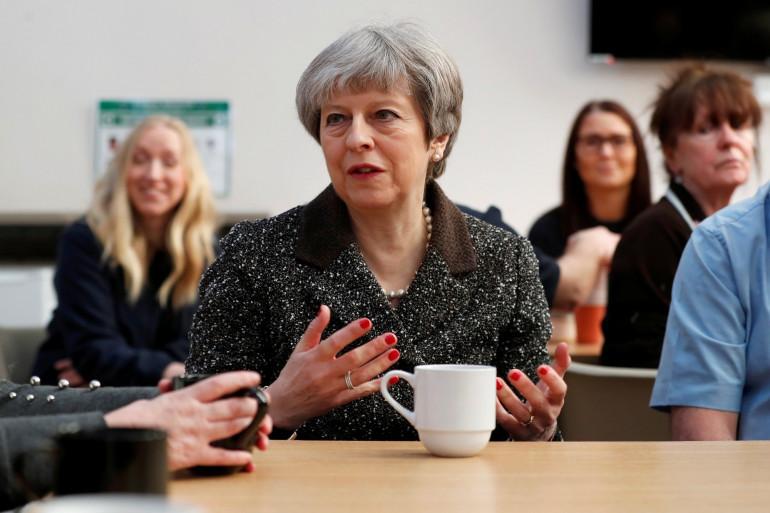 La première ministre britannique Theresa May, le 29 mars 2018 en Écosse