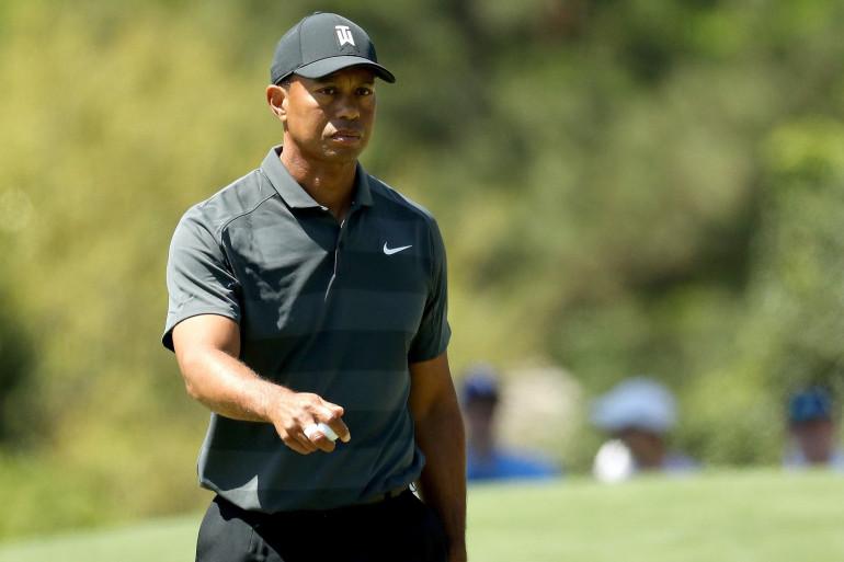 Tiger Woods lors du prestigieux Masters d'Augusta, le 5 avril 2018