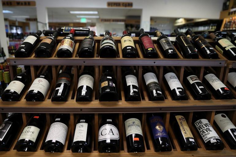 Des bouteilles de vin (Illustration)