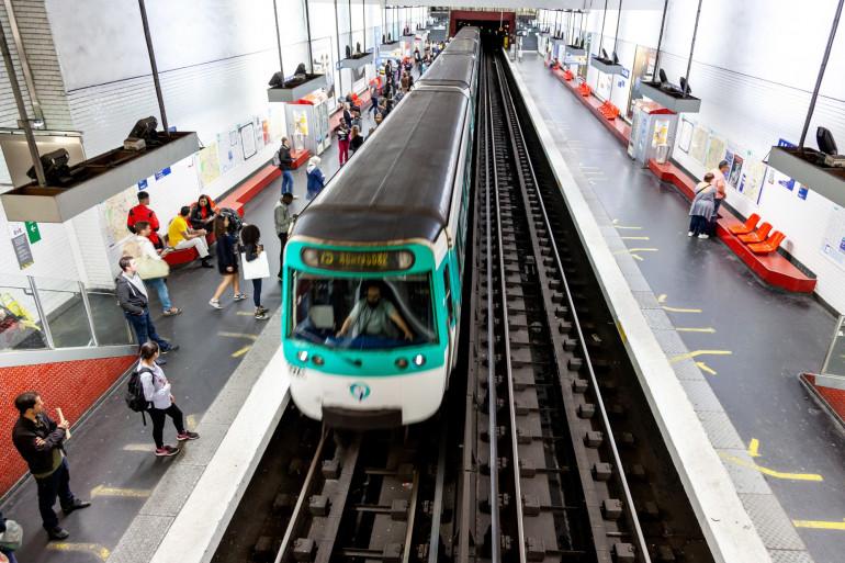 Le métro parisien (illustration)
