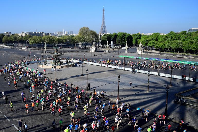 Des coureurs lors du marathon de Paris 2017, le 9 avril