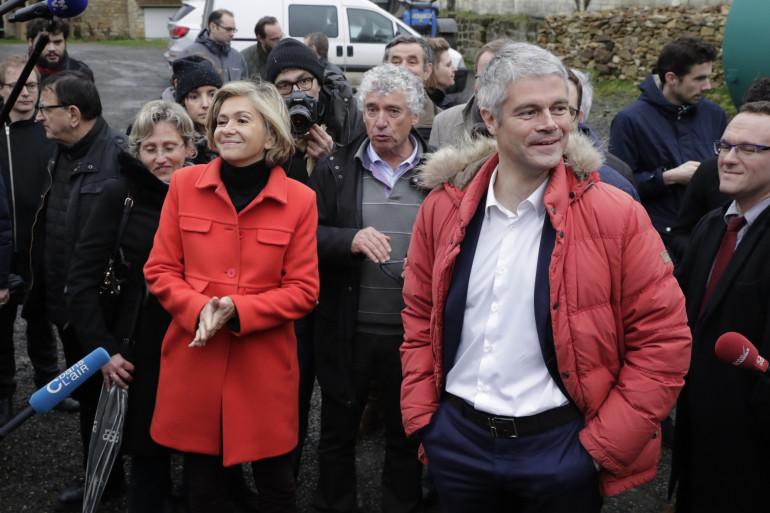 Laurent Wauquiez et Valérie Pécresse, le 31 janvier 2018 à Sagy