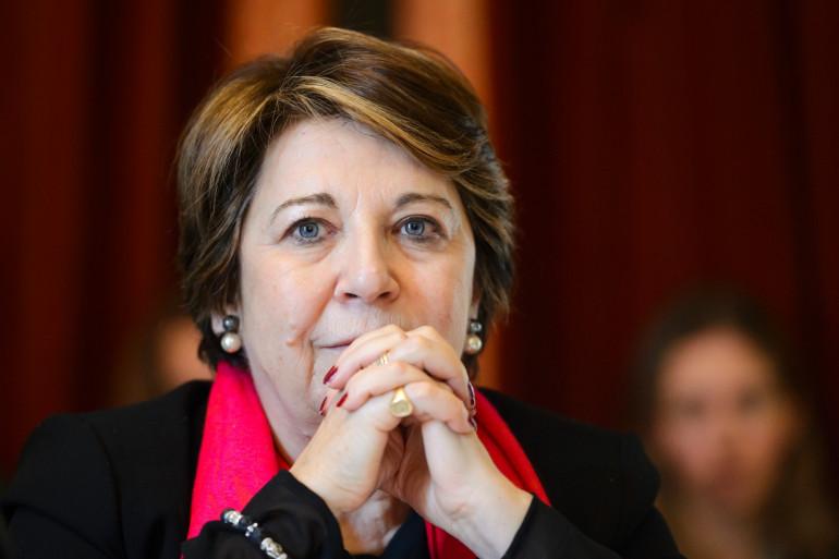 L'ancienne ministre de l'Écologie Corinne Lepage, le 7 mars 2016 à Genève