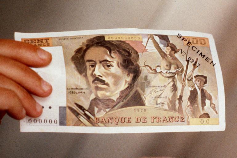 Un billet de 100 francs (illlustation)