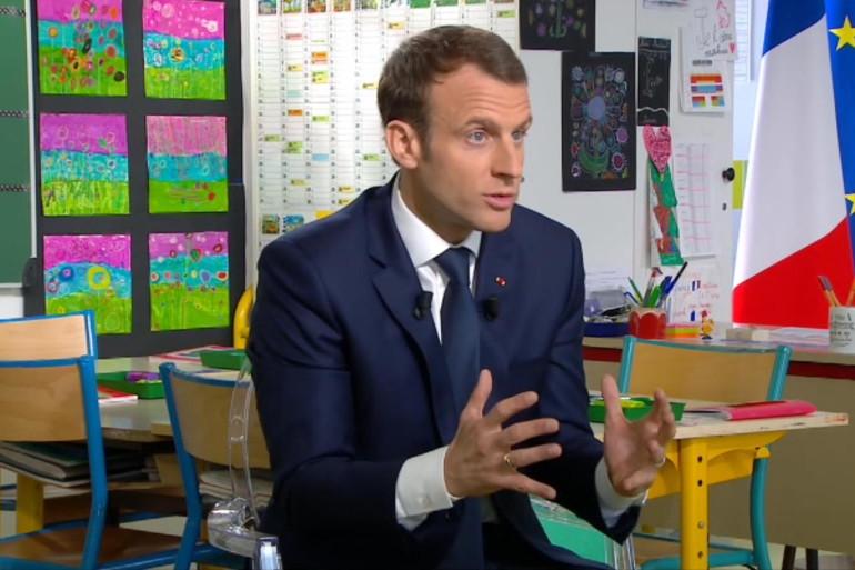 Emmanuel Macron en interview jeudi 12 avril 2018