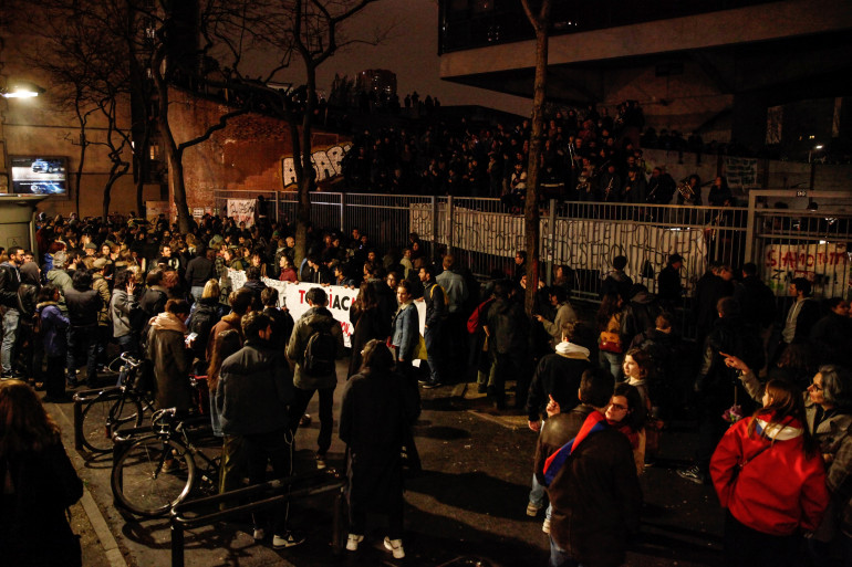 Sorbonne : les CRS sont intervenus sur le site de la faculté de Tolbiac à 5h ce vendredi 20 avril