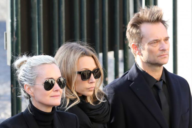 Laeticia Hallyday, Laura Smet et David Hallyday le 9 décembre 2017