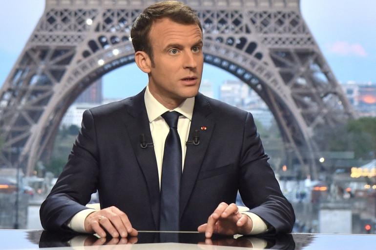 Emmanuel Macron, le 15 avril 2018