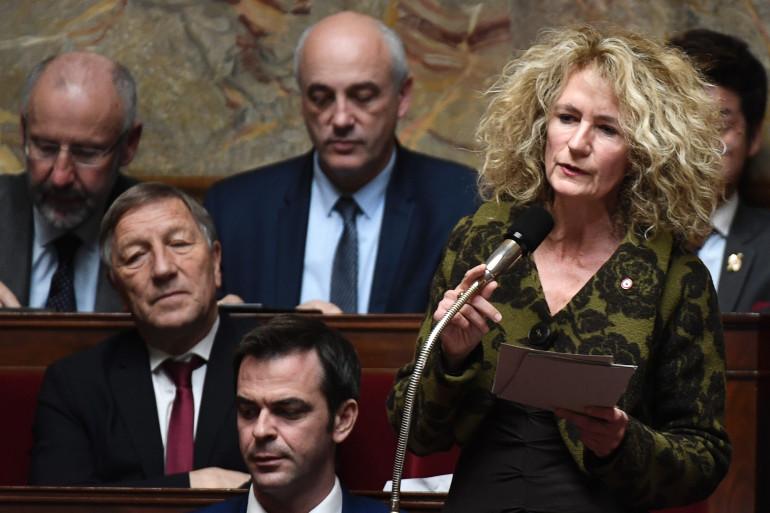 La députée La République en Marche Martine Wonner lors d'une séance de questions au gouvernement le 14 novembre 2017.