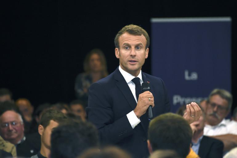 Emmanuel Macron à Rodez