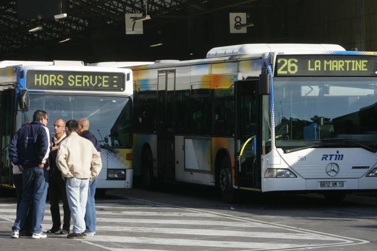 Un bus marseillais hors service (illustration)