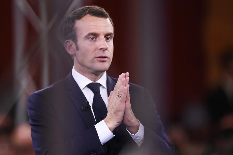 Le président de la République Emmanuel Macron, le 17 avril 2018 à Épinal