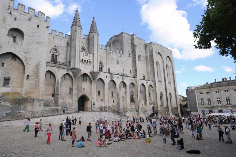 Palais des Papas à Avignon le 8 juillet 2014