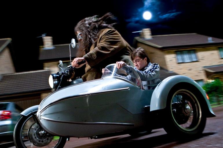 """Hagrid et Harry Potter dans """"Harry Potter et les Reliques de la Mort"""""""