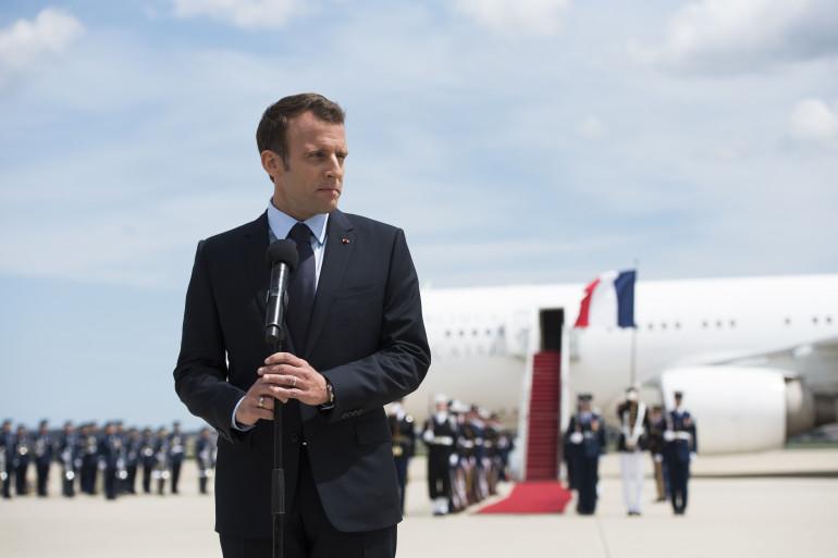 Emmanuel Macron, aux États-Unis, le 23 avril 2018