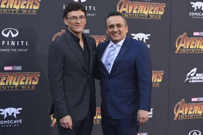 """Joe et Anthony Russo lors de l'avant-première mondiale d'""""Avengers : Infinity War"""""""