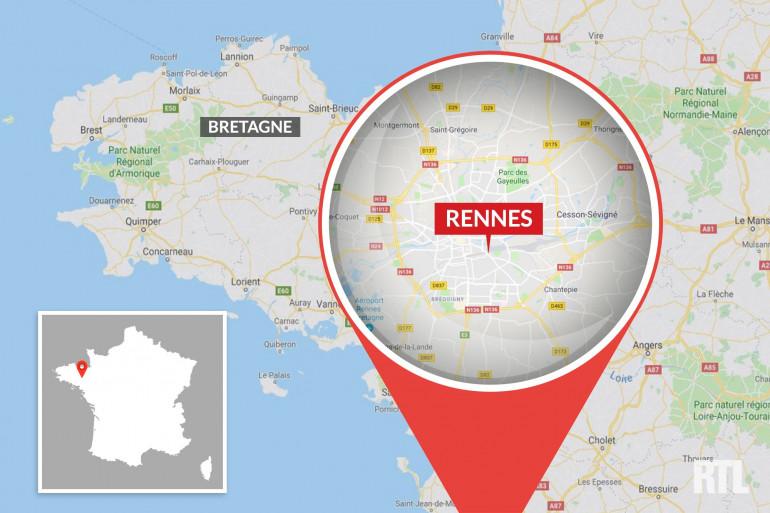 La ville de Rennes, en Ille-et-Vilaine.
