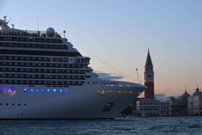 Un paquebot à Venise, le 7 septembre 2015