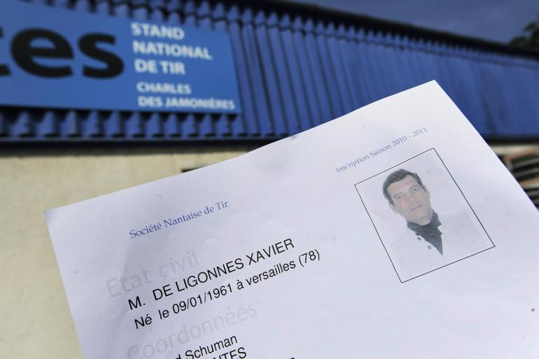 La fiche de renseignement de Xavier Dupont de Ligonnès au stand de tir de Nantes