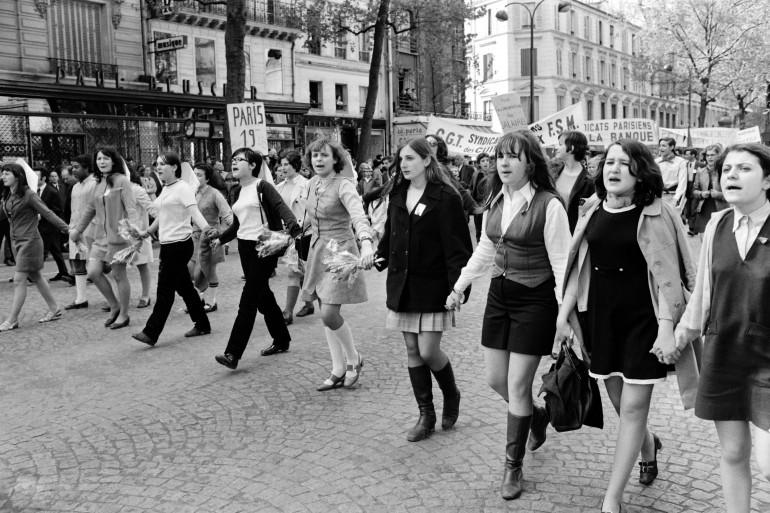Des manifestantes à Paris le 1er mai 1968