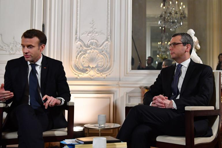 Le Président Macron et son principal interlocuteur Alexis Kohler, le secrétaire général de l'Élysée