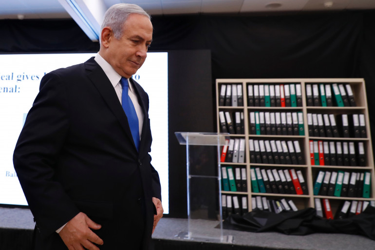 Le Premier ministre israélien Benjamin Netanyahu a présenté lundi 30 avril des éléments censés étayer la thèse du développement de l'arme nucléaire par l'Iran ces dernières années