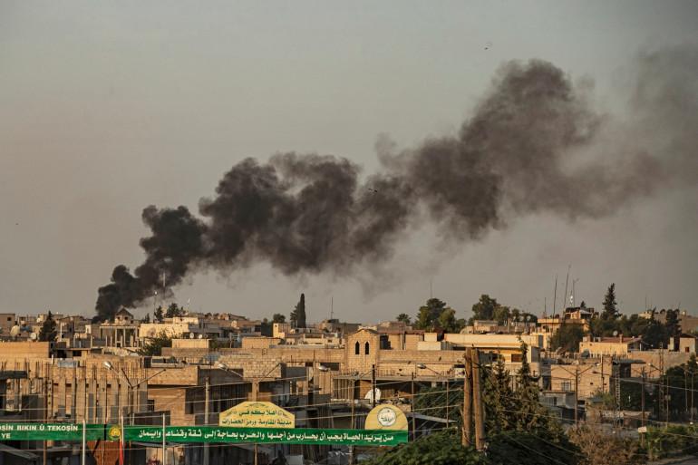 La ville de Ras al-Ain près de la frontière turco-syrienne (illustration)