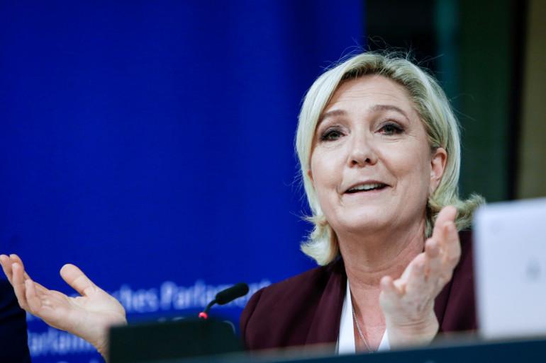 Marine Le Pen au Parlement européen, le 13 juin 2019 à Bruxelles